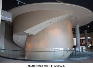 Cincinnati, OH / USA - April 23, 2019: interior view of the National Underground Railroad Freedom Center building.