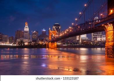 Cincinnati, Ohio on a beautiful night