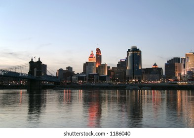 Cincinnati, Ohio (view from Covington, KY)