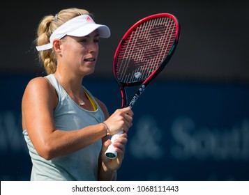 CINCINNATI, UNITED STATES - AUGUST 13 : Angelique Kerber of Germany at the 2017 Western & Southern Open WTA Premier 5 tennis tournament
