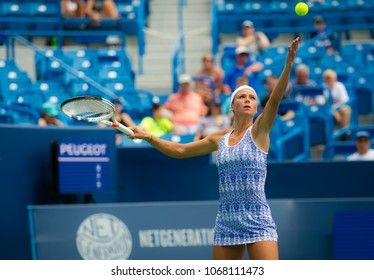 CINCINNATI, UNITED STATES - AUGUST 13 : Camila Giorgi of Italy at the 2017 Western & Southern Open WTA Premier 5 tennis tournament