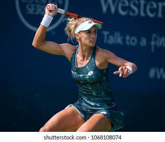 CINCINNATI, UNITED STATES - AUGUST 14 : Lesia Tsurenko of the Ukraine at the 2017 Western & Southern Open WTA Premier 5 tennis tournament