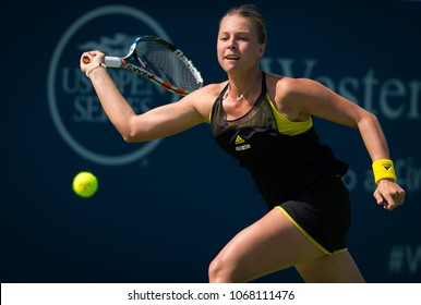 CINCINNATI, UNITED STATES - AUGUST 14 : Anett Kontaveit of Estonia at the 2017 Western & Southern Open WTA Premier 5 tennis tournament