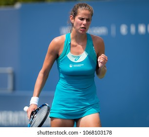 CINCINNATI, UNITED STATES - AUGUST 15 : Julia Goerges of Germany at the 2017 Western & Southern Open WTA Premier 5 tennis tournament