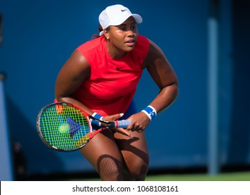 CINCINNATI, UNITED STATES - AUGUST 15 : Taylor Townsend of the United States at the 2017 Western & Southern Open WTA Premier 5 tennis tournament