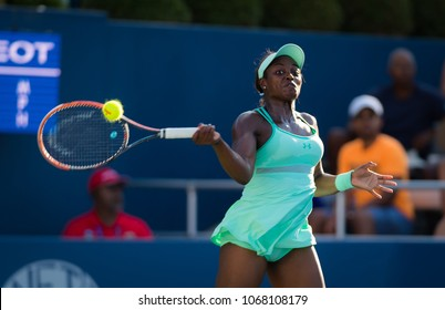 CINCINNATI, UNITED STATES - AUGUST 18 : Sloane Stephens of the United States at the 2017 Western & Southern Open WTA Premier 5 tennis tournament