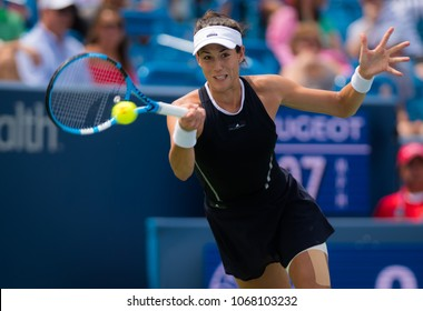 CINCINNATI, UNITED STATES - AUGUST 19 : Garbine Muguruza of Spain at the 2017 Western & Southern Open WTA Premier 5 tennis tournament