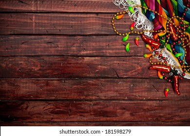 Cinco De Mayo Background With Mexican Decorations