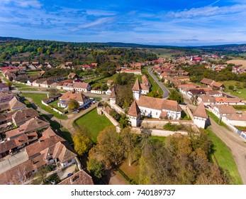 Cincsor Saxon Fortified Church near Sibiu in Transylvania, Romania