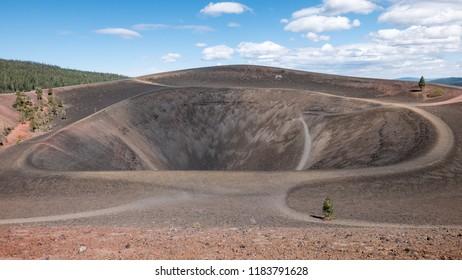 Cinder Cone Crater, Lassen Volcanic National Park, California