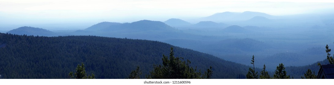 Cinder cones of volcanic eruptions, Newberry National Volcanic Monument, Oregon
