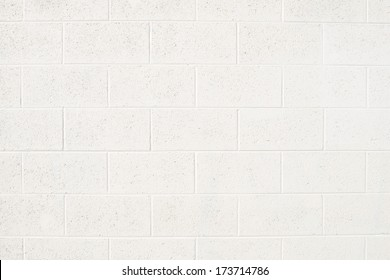 Cinderblock Wall Painted Off White