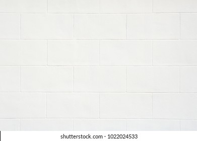 Cinderblock Wall White Color Painted