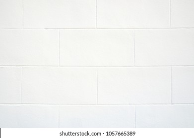 Cinderblock White Wall Background Close up.