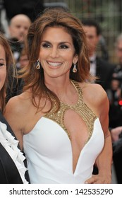 """Cindy Crawford at the premiere of """"The Great Gatsby"""" the opening movie of the 66th Festival de Cannes. May 15, 2013  Cannes, France"""