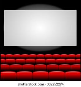 Cinema auditorium illustration.