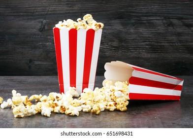 Cinema concept with popcorn