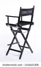 cinema movie director chair stool isolated on white background