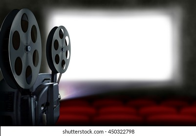 Cinema projector with empty seats