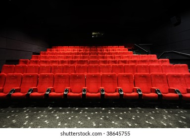 Cinema seats in a movie theater