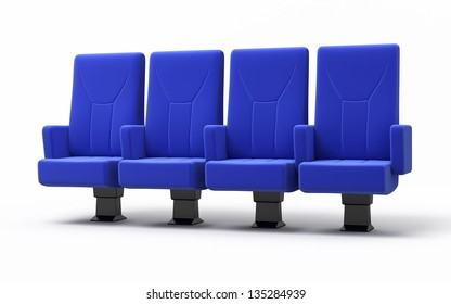 Cinema seats render (isolated and clipping path)