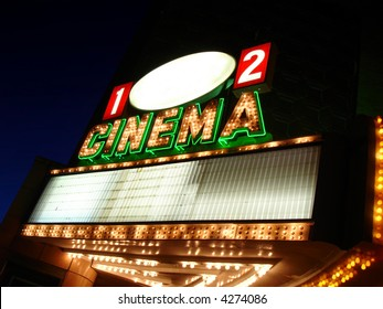 Cinema Sign Blank