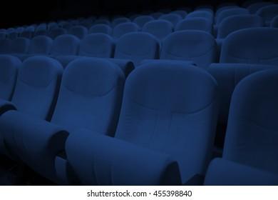 Cinema / theater seats blue