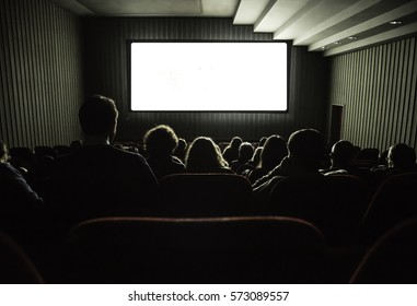 Cinema white screen for your image