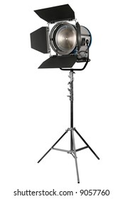 cinematographic spotlight detail isolated on white background