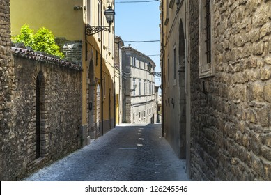 Cingoli (Macerata, Marches, Italy) - Street of the ancient town
