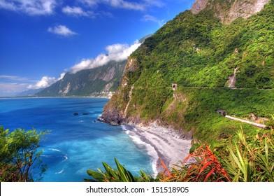Cingshui Cliff on Suhua Highway, Hualien, Taiwan