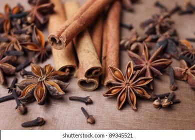 cinnamon, anise and clove