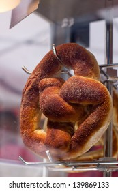 Cinnamon and Brown Sugar Soft Pretzel Ready to be Served