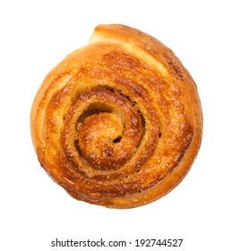 cinnamon bun isolated on white