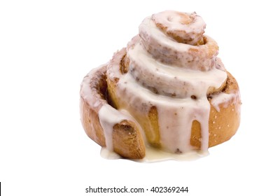 cinnamon bun on a white background isolated