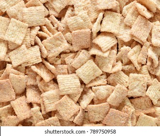 Cinnamon crunched toast muesli with sugar closed up food background