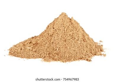 Cinnamon powder isolated on white background