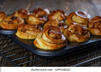 Cinnamon rolls from the oven