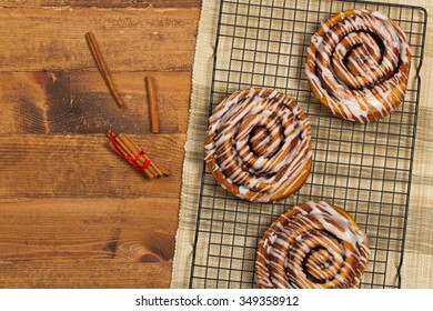 Cinnamon Rolls. Selective focus.