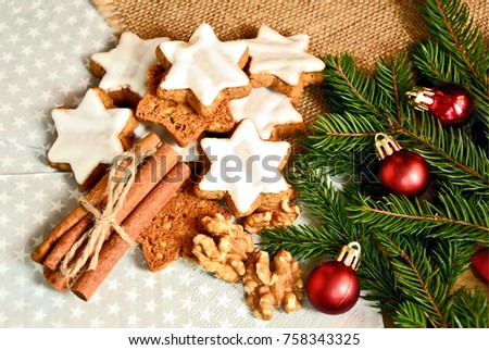 Cinnamon Stars German Name Zimtsterne German Stock Photo Edit Now