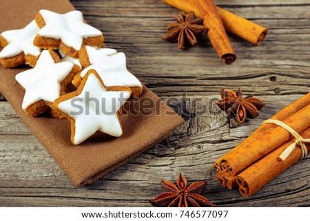 Cinnamon Stars German Zimtsterne On Old Stock Photo Edit Now