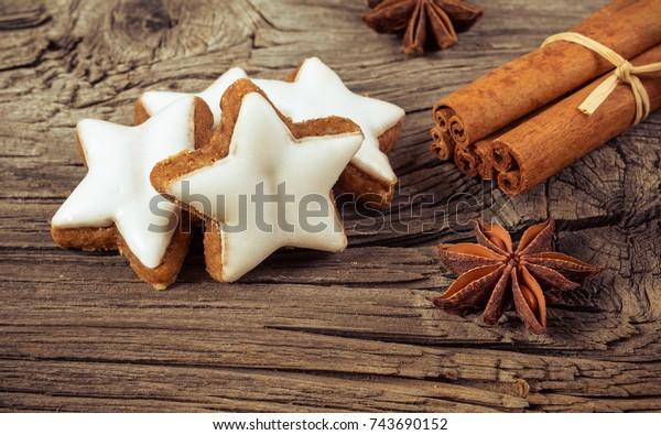 Cinnamon Stars German Zimtsterne On Old Stock Photo Edit Now 743690152