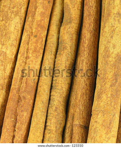 Cinnamon Stick Background Macro