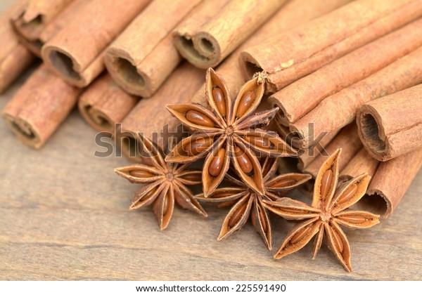 Cinnamon Stick Star Anise Star On Stock Photo Edit Now