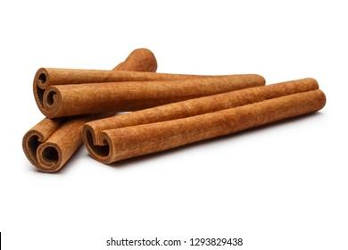 Cinnamon sticks, isolated on white background