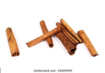 cinnamon sticks isolated on white background