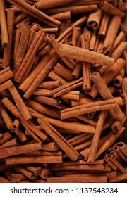 Cinnamon sticks as texture, background
