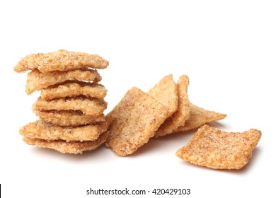 Cinnamon toast crunch on white background