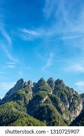 Cinque Punte di Raibl. Five peaks in the Julian Alps, Tarvisio, Friuli Venezia Giulia, Italy, Europe