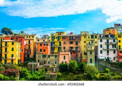 Cinque Terre, Corniglia. Italy. Fishing village in Cinque Terre National Park, Liguria Italy Europe